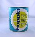 Migros-Produkteverpackung hoppla-Geschirrspülmittel um 1960.JPG