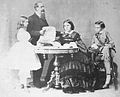 Miguel I of Portugal with his wife and two eldest children.jpg