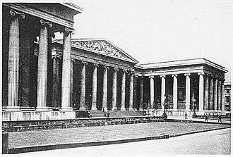 British Museum Department of Coins and Medals - Frontage of the British Museum