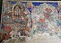 Ming Dynasty mural of Vajrahasa (大笑明王; Daxiao Mingwang) and Kundali (軍荼利明王; 军荼利明王; Juntuli Mingwang), two of Ten Wisdom Kings (十大明王), in Dayun Temple (浑源大云寺), Hunyuan, Datong, Shanxi, China.jpg
