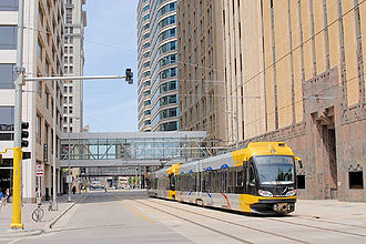Metro Transit (Minnesota) - Light rail in downtown Minneapolis.