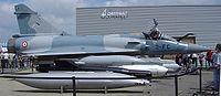 Un jet mirage con capacidad nuclear frances.