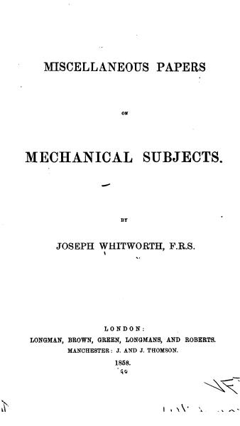 File:Miscellaneous Papers on Mechanical Subjects.djvu
