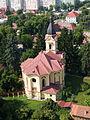Miskolc, Diósgyőr, kostel, pohled zhora.jpg