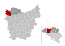 Location of Maldegem in East Flanders