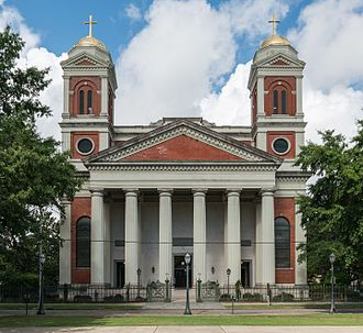 Cathedral Basilica of the Immaculate Conception (Mobile, Alabama) - Image: Mobile Cathedral, East view 20160712 1