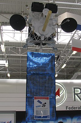 Model of Electro-L Meteo-satellite, Paris Air Show 2011.jpg