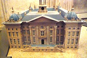 Ewert Janssen - Model of his plans for the New Amsterdam City Hall, by Philips Vingboons