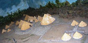 Guayabo de Turrialba - Image: Modelo del asentamiento