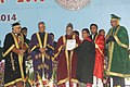 Mohd. Hamid Ansari presenting the degree to a student, at the Annual Convocation of the University of Lucknow, in Lucknow, Uttar Pradesh Uttar Pradesh. The Governor of Uttar Pradesh, Shri B.L. Joshi.jpg