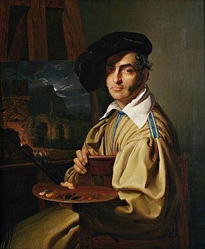 Giovanni Migliara - Portrait of Giovanni Migliara (1829)  Painted by Giuseppe Molteni
