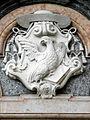 Monastero di San Giovanni Evangelista, stemma portale (Parma).JPG