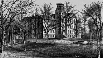 Ohio Wesleyan Female College - Monnett Hall, Original Section, Delaware Ohio. Monnett Hall was the primary building of the Wesleyan Female College.