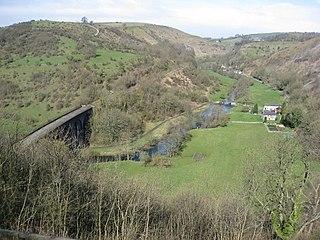Wye Valley, Derbyshire Valley in the Derbyshire Peak District