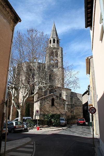 Montagnac (Hérault) chevet de l'église Saint-André.