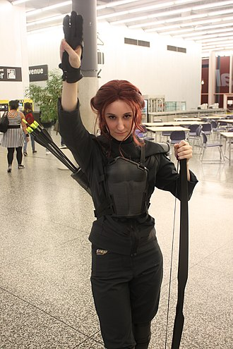 Fandom - Cosplayer dressed as Katniss Everdeen during the Montreal Comiccon, July 2015