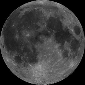 Since the Moon is 1:1 tidally locked, only one...