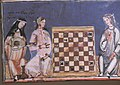 Moorish women playing chess, European woman playing lute.jpg