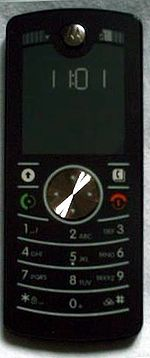 The Motorola F3 uses an e-paper display instead of a conventional LCD display