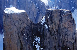 Mount Asgard mountain in Canada