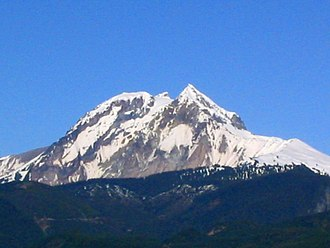 Pacific Ranges - The Mount Garibaldi massif as seen from Squamish, British Columbia