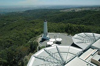 Mount Lofty - North view of the Summit and Flinders Column from the Fire Tower