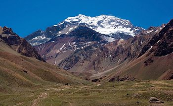 Mt Aconcagua near Mendoza Argentina