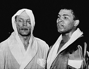 Henry Cooper - Muhammad Ali and Henry Cooper following their fight on 18 June 1963