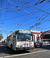 Muni route 33 trolleybus at 18th and Castro, September 2012.jpg