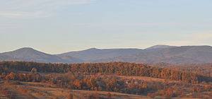 Apuseni Mountains - The main peaks of the Apuseni Mountains, with Cucurbăta Mare on the right