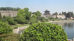 Jingzhou old city wall.