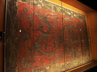2nd century BC - Mural from the tomb of Liu Wu whose principality was at the heart of the Rebellion of the Seven States