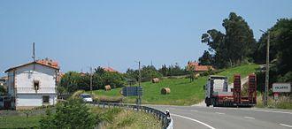 N-634 road (Spain) - In Islares, Cantabria