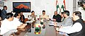 N. Chandrababu Naidu in a meeting with the Union Minister for Civil Aviation, Shri Ashok Gajapathi Raju Pusapati and the Minister of State for Culture (Independent Charge), Tourism (Independent Charge) and Civil Aviation.jpg