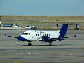 Great Lakes Airlines - A Beech 1900D at Denver International Airport