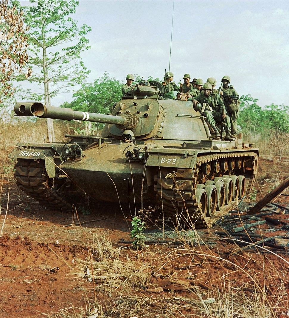 NARA 111-CCV-372-CC33992 25th Infantry Division M48A3 Patton moving through Viet Cong territory Operation Lincoln 1966
