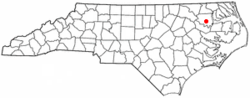 Location of Windsor, North Carolina