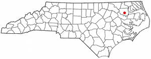 Windsor, North Carolina - Image: NC Map doton Windsor