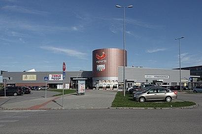 Jak do Nákupné centrum Vajnoria hromadnou dopravou - O místě