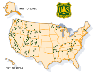 National Forest Scenic Byway - Image: NFSB map
