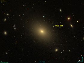 La galaxie elliptique NGC 533