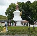 Nagarjuna and Stupa of Kagyu Samyé Ling Monastery - panoramio.jpg