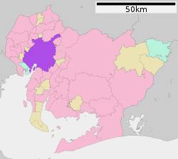 Location of Nagoya in  Aichi