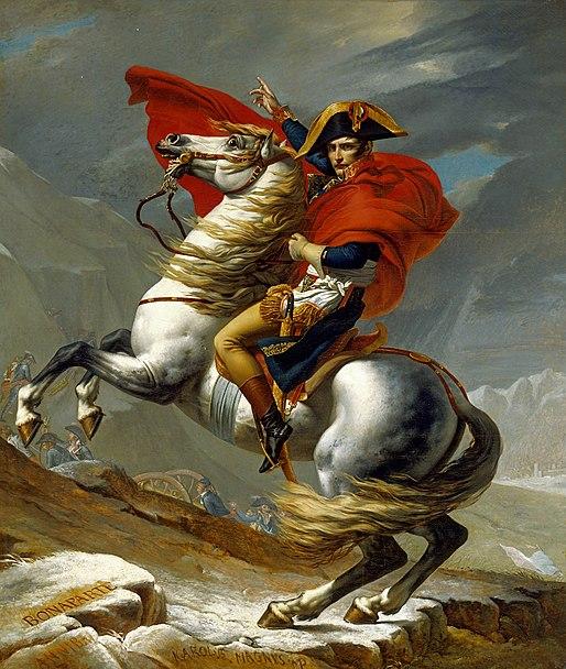 Napoleón en su caballo de David