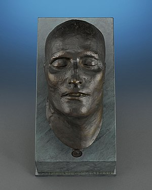 Death mask - Bronze death mask of Napoleon