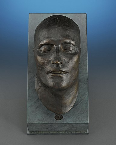 Bronze Death Mask of Napoleon I. Modeled in 1821; Cast in 1833.