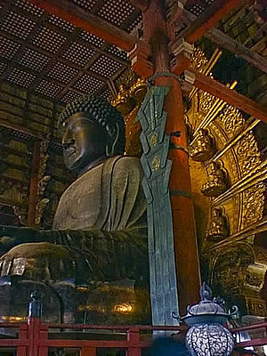 Nara period - The Great Buddha at Nara (Tōdai-ji), 752 CE.