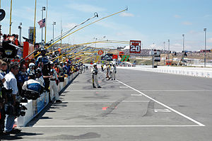 NASCAR rules and regulations - NASCAR officials on pit road at Sonoma Raceway