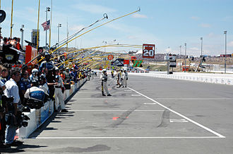 Sonoma Raceway - Pit road at Infineon in 2005