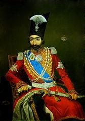 Portrait du souverain Nasir al-Din Shah